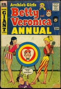 Archie's Girls Betty and Veronica Annual #8 1960- Archery- Final issue- G