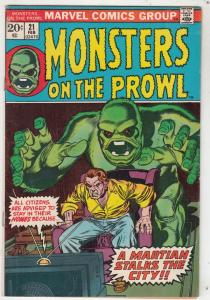 Monsters on the Prowl #21 (Feb-73) FN/VF Mid-High-Grade