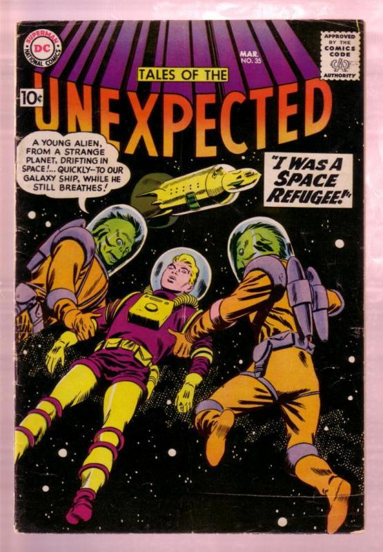 TALES OF THE UNEXPECTED #35 1959- ALIENS - RETRO ROCKET VG