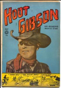 Hoot Gibson #5 1950-Fox-1st issue-photo covers-B-western film star-VG+