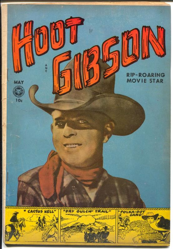 Hoot Gibson #5 1950-Fox-1st issue-photo covers-B-western film star-VG+