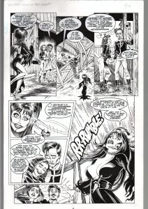 TOD SMITH-ELVIRA #134-TALES OF TEA BISCUIT -ORIGINAL ART PAGE 6-QUEEN 'B' FN