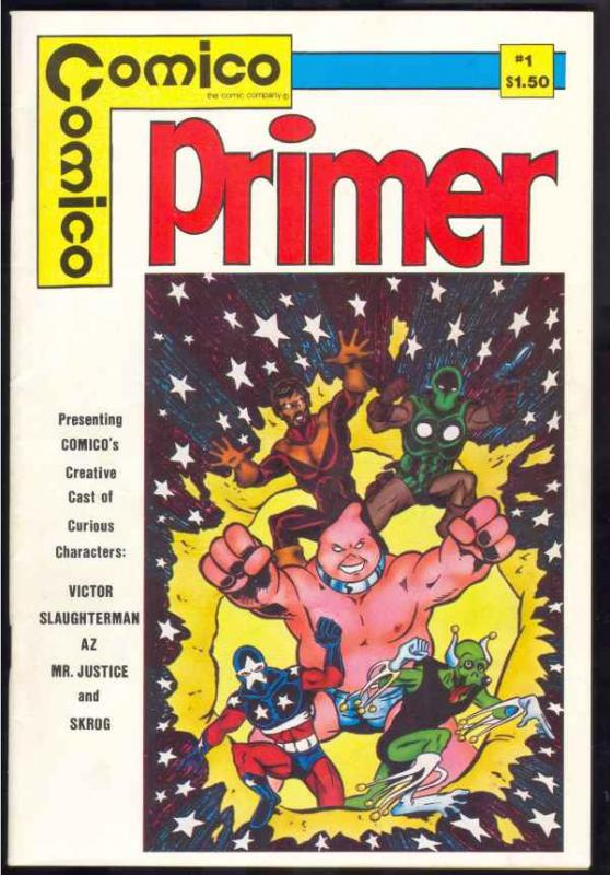 Comico Primer Multi-Signed #1 (Jan-82) FN/VF Mid-High-Grade