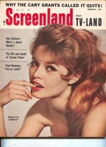 ScreenLand-Brigitte Bardot-Tyrone Power-Ann Sothern-Paul Newman-March-1959