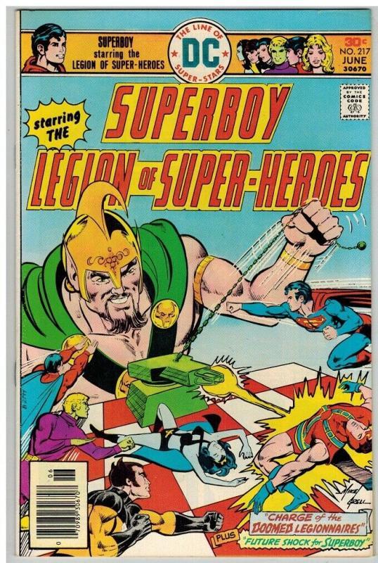 SUPERBOY 217 VF June 1976 COMICS BOOK