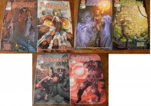 6 Crossgen MERIDIAN Comic Book: #7 #10 #12 #13 #21 #22