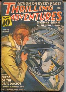 Thrilling Adventures 1/1941-Henry Kuttner-Johnston McCulley-Nazis-FN