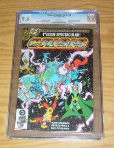 Crisis on Infinite Earths #1 CGC 9.6 dc comics key 1ST BLUE BEETLE george perez