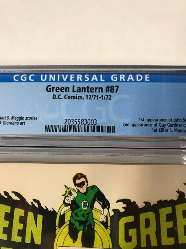Green Lantern 87 Cgc 9.8 Ow Pages 1st John Stewart RARE! Dc Comics