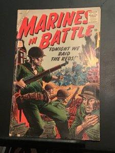 Marines in battle #25 September 1958 wow mid high grade key! FN/VF