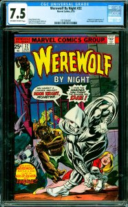 Werewolf By Night #32 CGC Graded 7.5 Origin & 1st appearance of Moon Knight (...