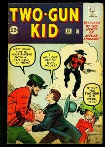 Two-Gun Kid #62 1963- Marvel Western- Jack Kirby- Secret Identity- VG+
