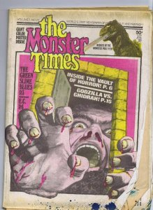 ORIGINAL Vintage 1973 The Monster Times Horror Newspaper Magazine #22 Godzilla