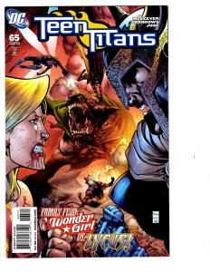 6 Teen Titans DC Comic Books # 65 66 67 68 69 Annual #1 Superboy Wonder GirlJ128