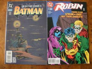 2 DC Comic Book: Detective Comics BATMAN #687 & ROBIN #25