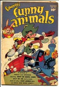 Fawcett's Funny Animals #56 1947-Hoppy The  Marvel Bunny-superhero animals-G