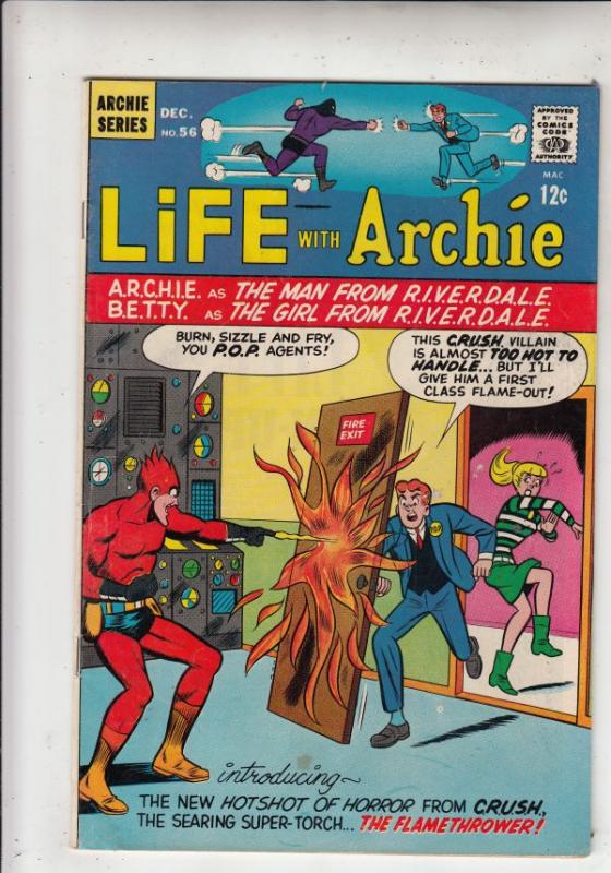 Life with Archie #56 (Dec-66) FN/VF- Mid-High-Grade Archie, Jughead, Betty, V...