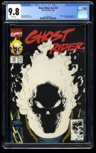 Ghost Rider (1990) #15 CGC NM/M 9.8 White Pages Glow in the Dark Cover!