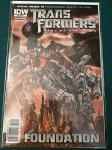 Transformers Dark Of The Moon Prequel #2 Foundation