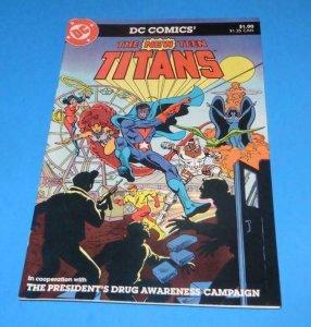 NEW TEEN TITANS promo - President's Drug Awareness, VF/NM, 1983, Ross Andru