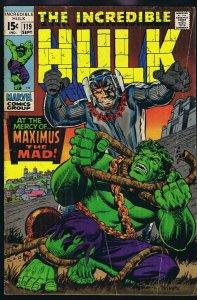 Incredible Hulk #119 ORIGINAL Vintage 1969 Marvel Comics Inhumans