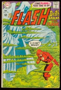 THE FLASH #176 1968-DC COMICS-WILD COVER--DEATH ISSUE G/VG