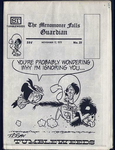 MENOMONEE FALLS GUARDIAN 21 CAPTAIN EASY 1973 ALLEY OOP