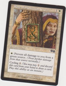 Magic the Gathering: Urza's Saga - Rune of Protection: Green