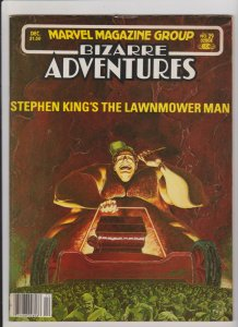 BIZARRE ADVENTURES #29 STEPHEN KING'S THE LAWNMOWER MAN 1981 MARVEL MAGAZINE