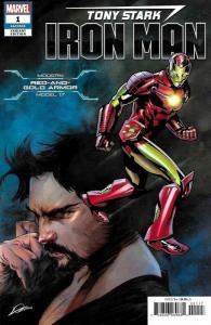 Tony Stark Iron Man #1 Modern Red & Gold Armor Variant (Marvel, 2018) NM