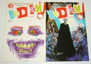Bedlam! #1-2 VF/NM complete series - steve bissette/rick veitch - eclipse horror