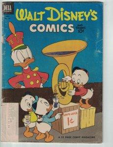 Walt Disney's Comics and Stories #154 subscription variant - donald duck - Dell