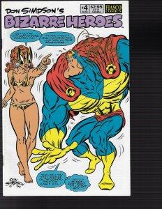 Bizarre Heroes #4 (Fiasco Comics, 1990)) NM - Auto Ron Simpson