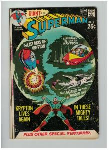 SUPERMAN (1939-1986) 232 VG (GIANT) Jan. 1971 Krypton