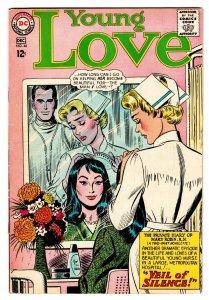 YOUNG LOVE #46 comic book DC ROMANCE-NURSE HOSPITAL COVER