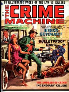Crime Machine 5/1971-Girl fight-issue 2-Bloody violent cover SKYWALD