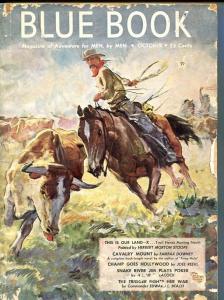 BLUE BOOK PULP-OCTOBER-1946-G-COVER ART BY STOOPS-NELSON BOND -BEDFORD-JONES G