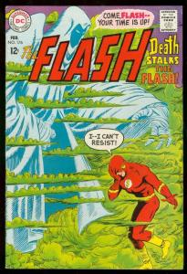 THE FLASH #176 1968-DC COMICS-WILD COVER-DEATH ISSUE FN+