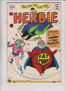 Herbie #14 FN fat fury - magicman - nemesis - january 1965 - silver age comic
