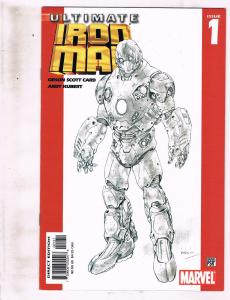 Lot of 5 Ultimate Iron Man Marvel Comic Books #1 2 3 4 5 AK8