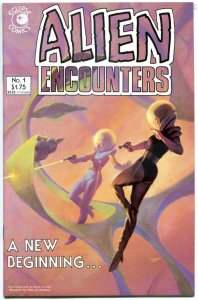 ALIEN ENCOUNTERS #1, VF+, Eclipse, Chiodo, Robot, UFO,1985, more indies in store