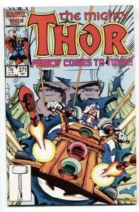 THOR #371 comic book-1st appearance of Justice Peace NM-