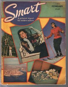 Smart #1 2/1941 1st issue-fashion-entertainment-art-air travel-VG