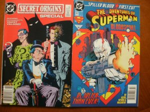 2 DC Comic: SECRET ORIGINS SPECIAL #1 (1989) & ADVENTURES OF SUPERMAN #507 (1993