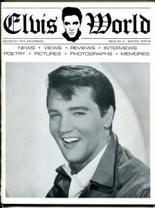 Elvis World #3 Winter 1978-Elvis fanzine-candid pix-memories-interviews-VF