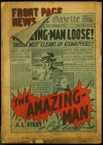Amazing-Man #7 1939- Rare Centaur- Bill Everett- Magician from Mars