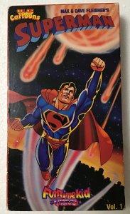 Superman: Max & Dave Fleisher 1989 VHS Video Volume 1 Color 30 min, Cartoons