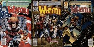 Wrath #1-3 Newsstand Covers (1994) - Malibu Comics - 3 Comics