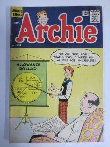 ARCHIE 132 G 11/1962 COMICS BOOK
