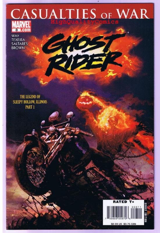 GHOST RIDER #8, NM, Sleepy Hollow, Mark Texeira, 2006, more GR in store